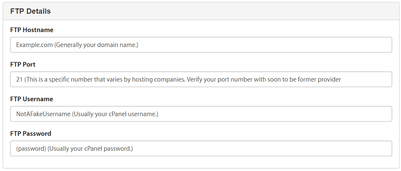 a2hosting migration request form