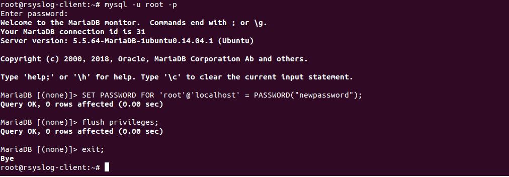 change password command line