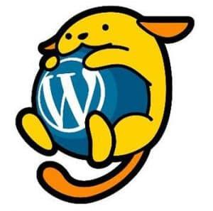 wordpress logo hugged by a cute animal