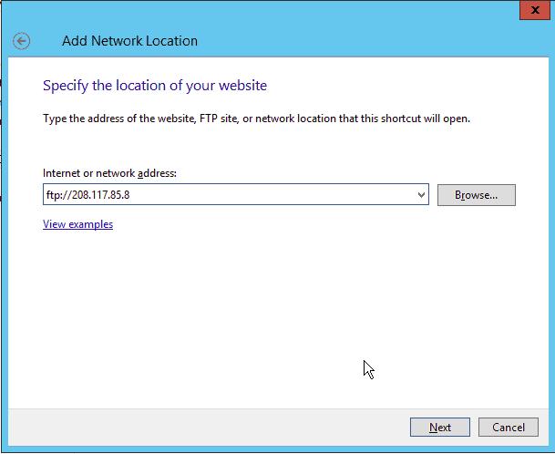 Add FTP Server Address