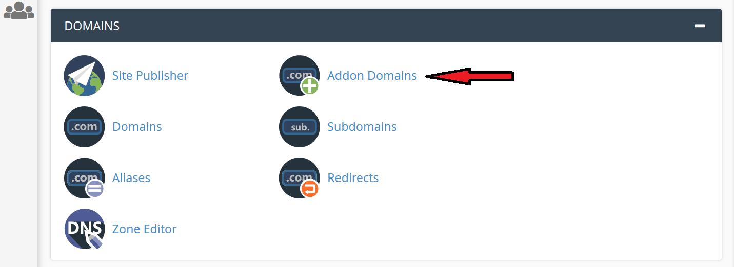 addon domains cpanel