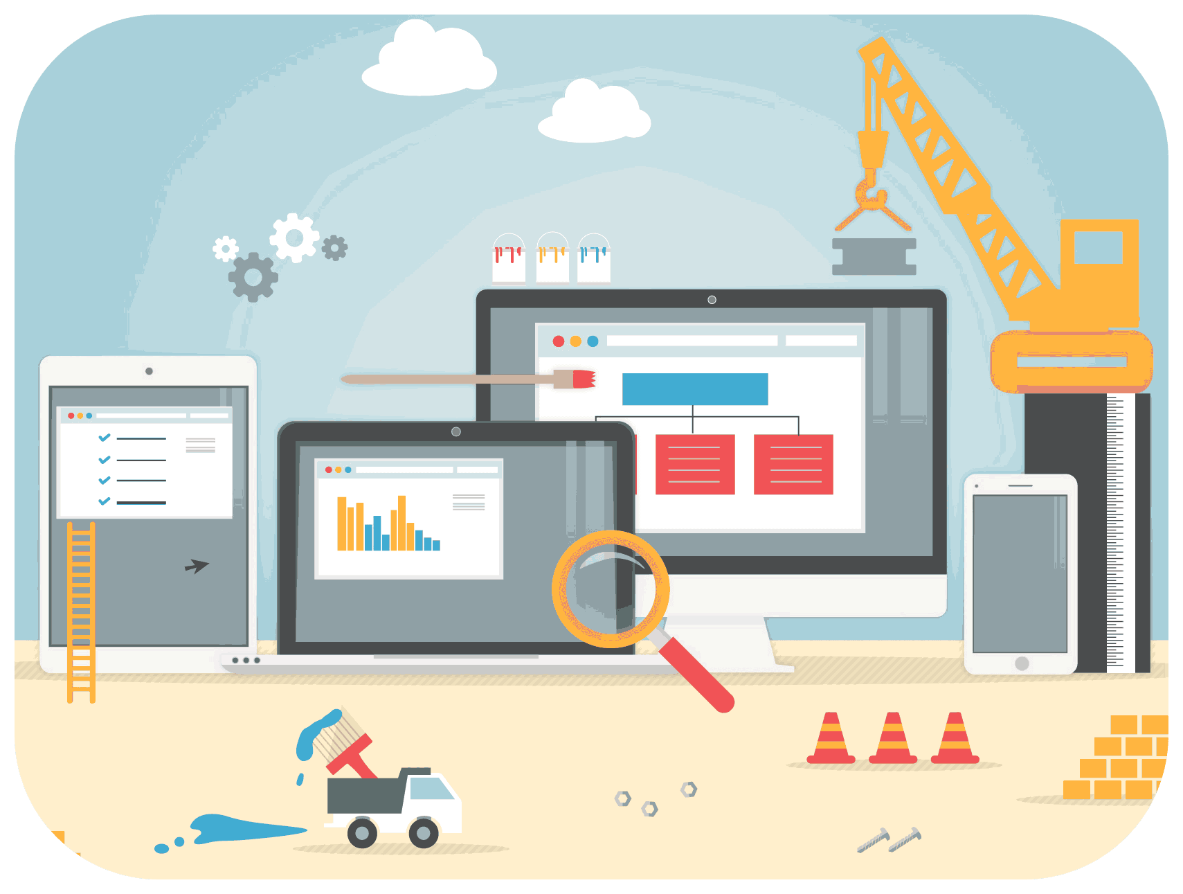 building a website construction site