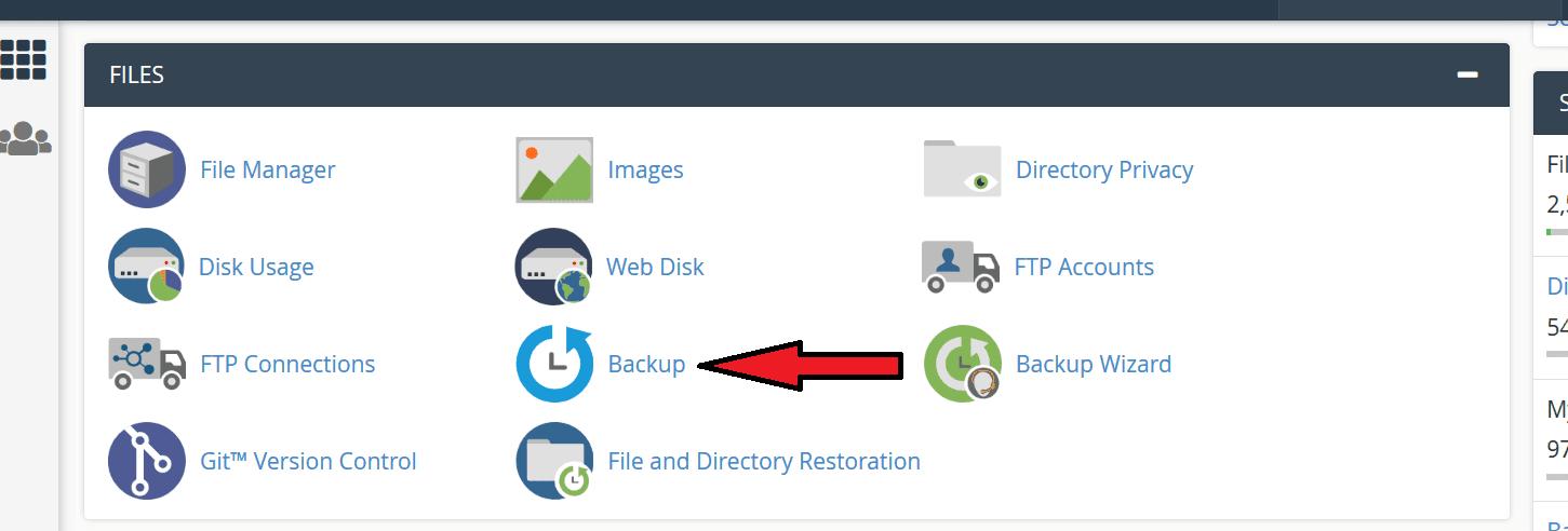 cpanel backup file