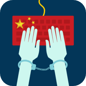 internet censorship china cuffs