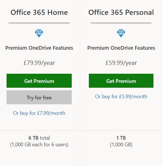 one drive cloud premium plan office 365