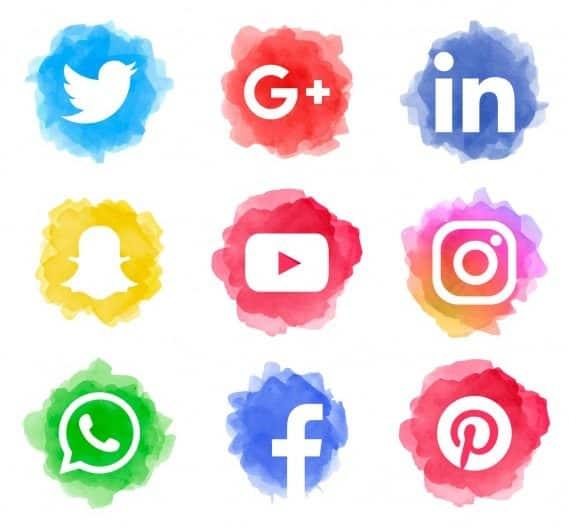 popular social media icons marketing