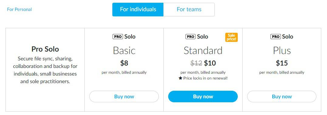 sync com pricing plan