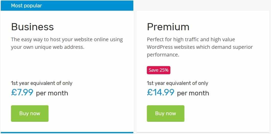 123 reg wordpress hosting plans
