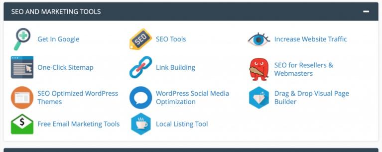 a2 hosting seo marketing tools