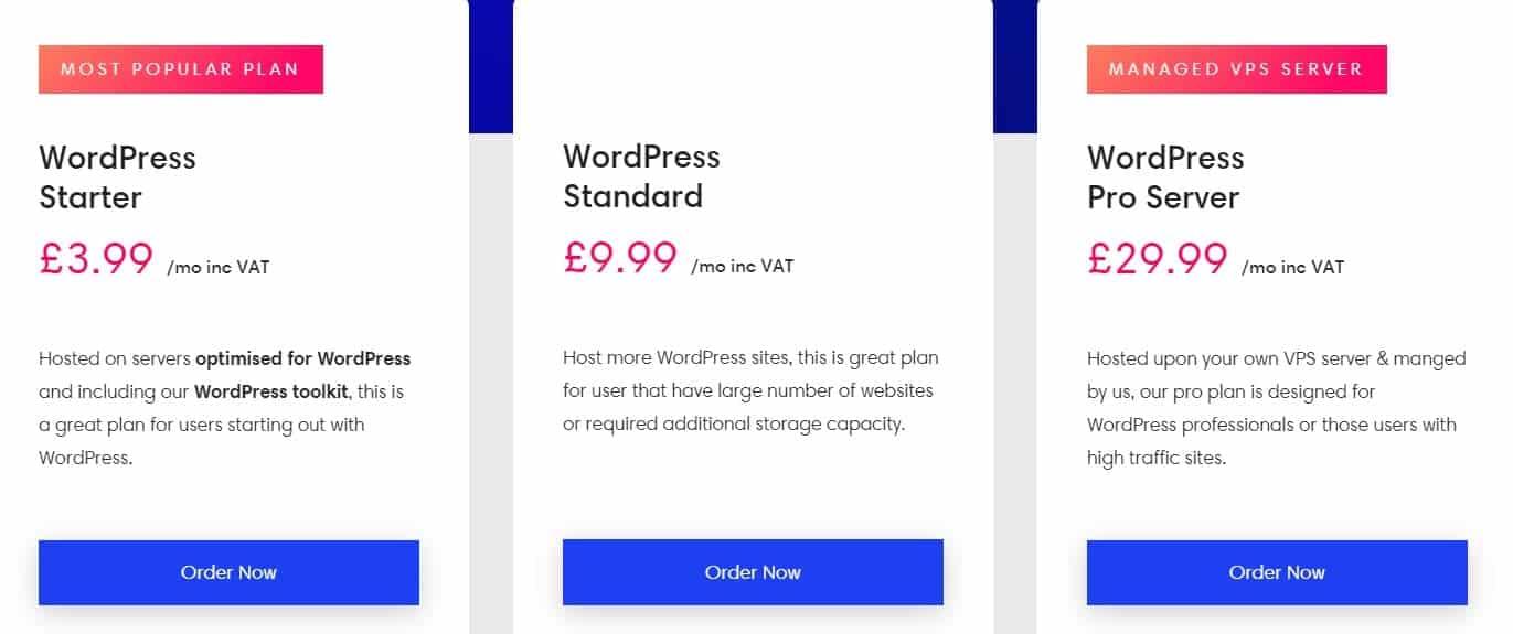 eukhosting wordpress plans