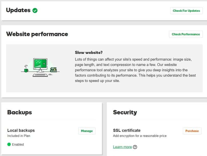 godaddy dashboard