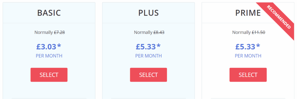 justhost pricing plans uk