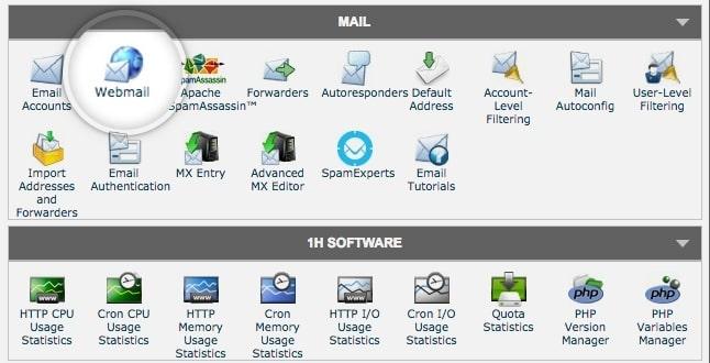 siteground webmail interface