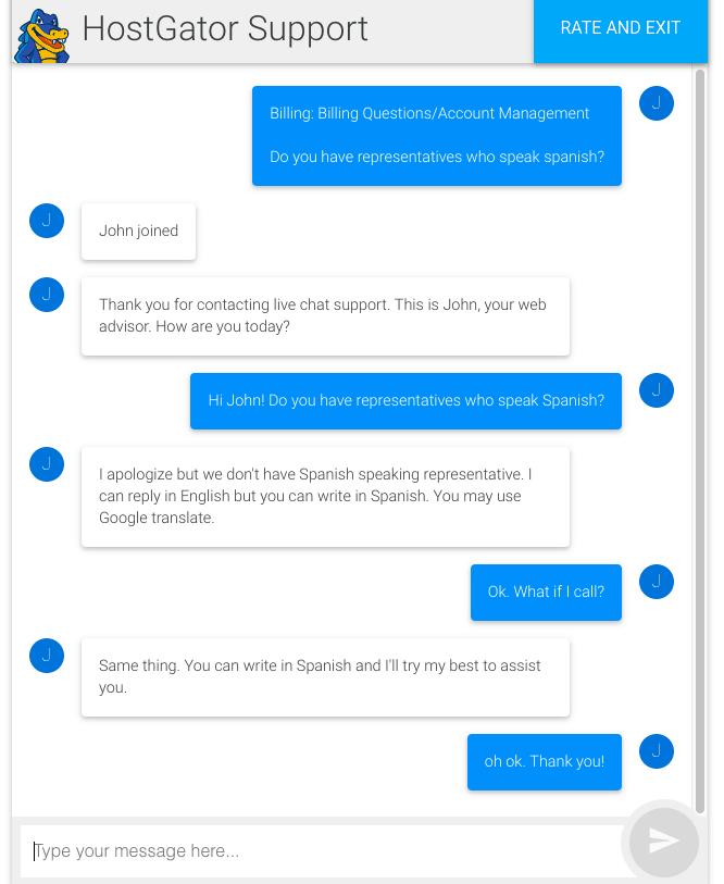 hostgator support chat