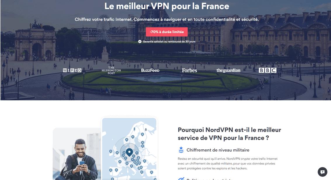 NordVPN - le meilleur VPN pour la France
