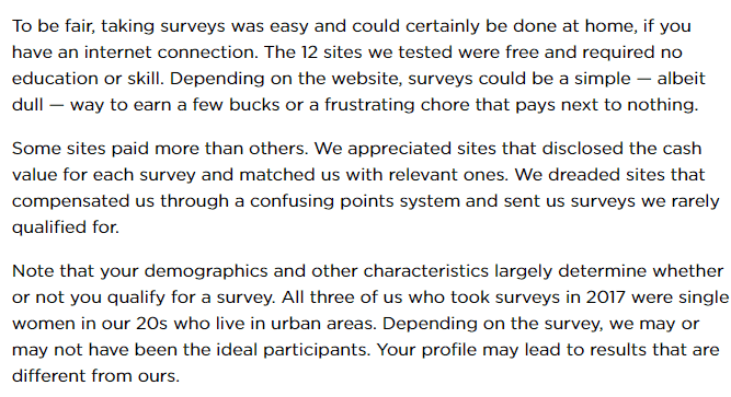 The lowdown on paid online surveys