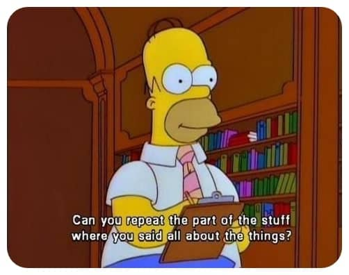 Homer Asking Questions