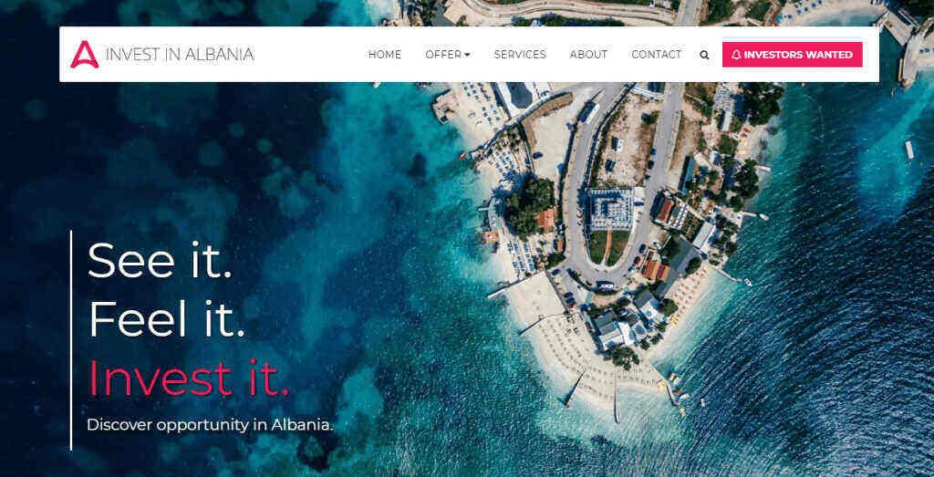 Invest in Albania Site123 Template
