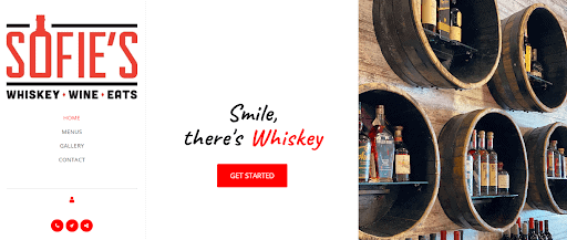 Sofies Whiskey Site123 Template