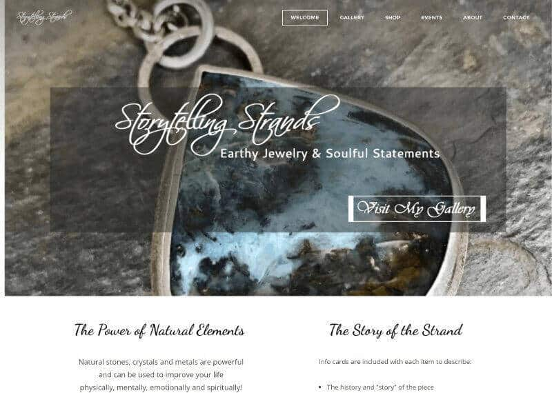 Storytelling Strands Weebly Template