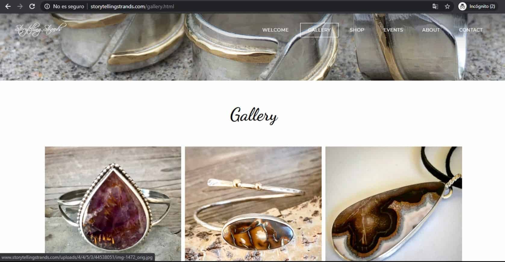 Storytelling Strands Weebly template Gallery