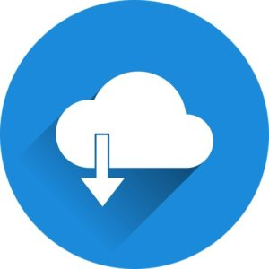 Cloud download illustration