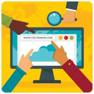 Domain registration illustration