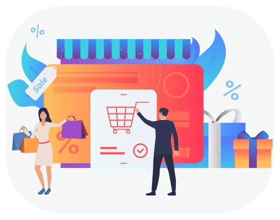 ecommerce shopper greeting