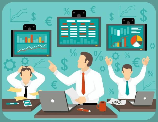 online traders winning losing
