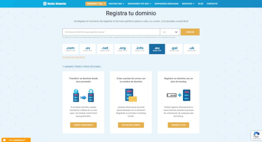 Página web del dominio Raiolanetworks