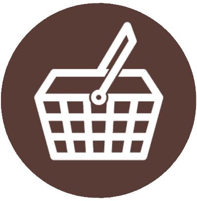 basket as market icon