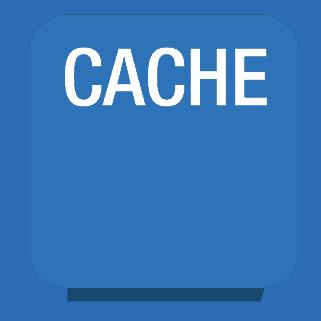 blue cache icon