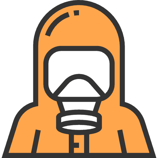 hazmat suit quarantine icon