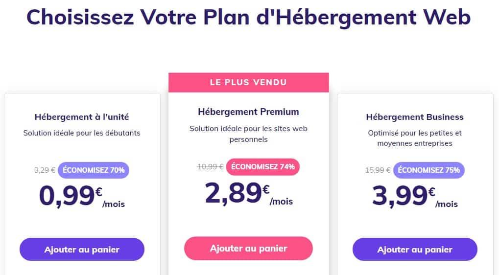 Hostinger Plans-D'hébergement Web