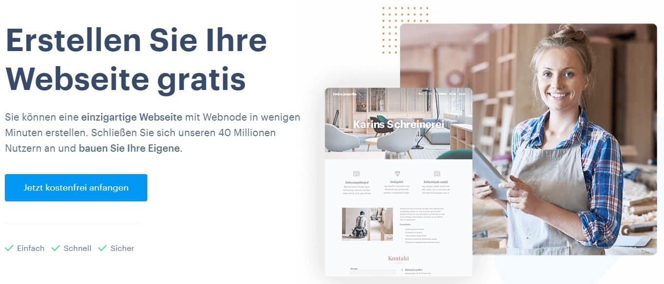 Webnode Startseite DE