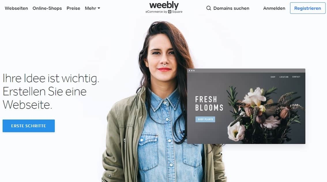 Weebly Startseite (DE)