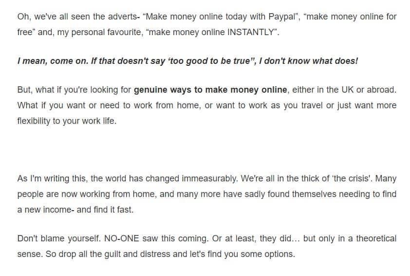 Genuine wyas to make money online UK