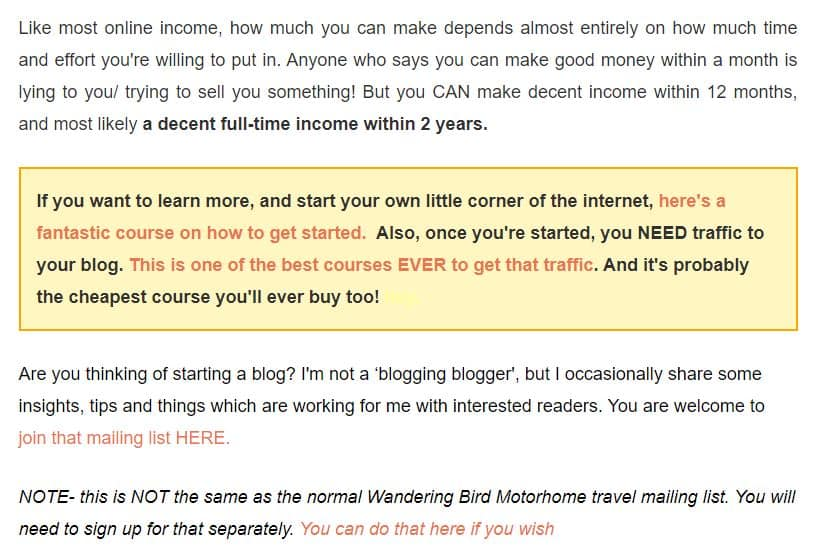how much money blogging earns
