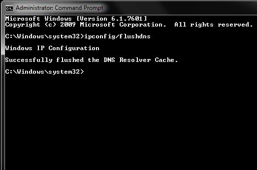 clear dns cache windows
