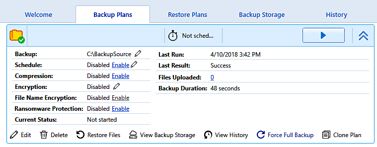 how to do a full backup