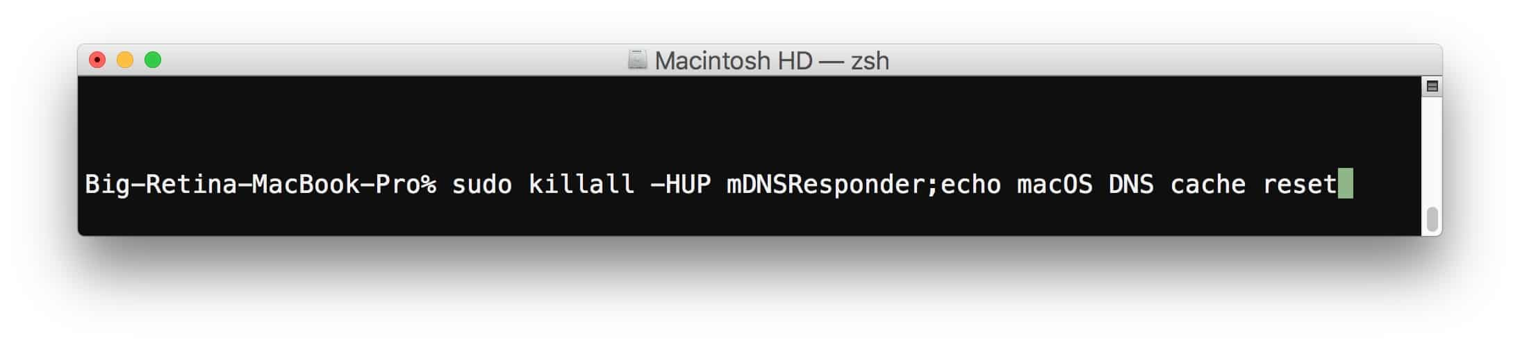 how to flush DNS on MAC