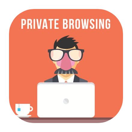 private browsing masked face