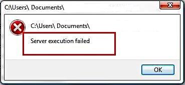 server execution failure