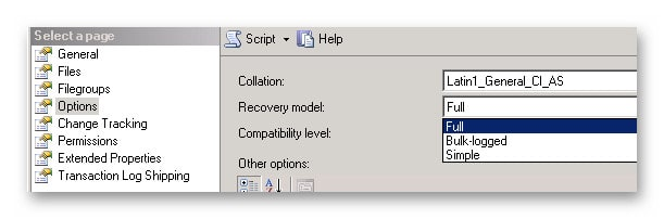 switching to simple recovery model