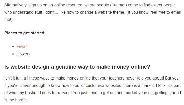 website design to make money