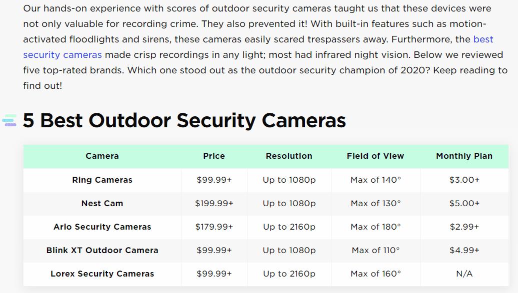 5 best outdoor security cameras