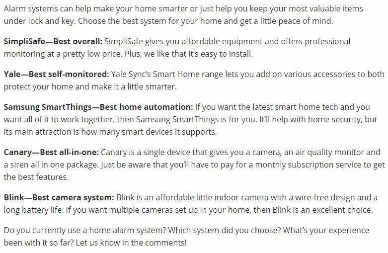 Best Home Security UK Recap