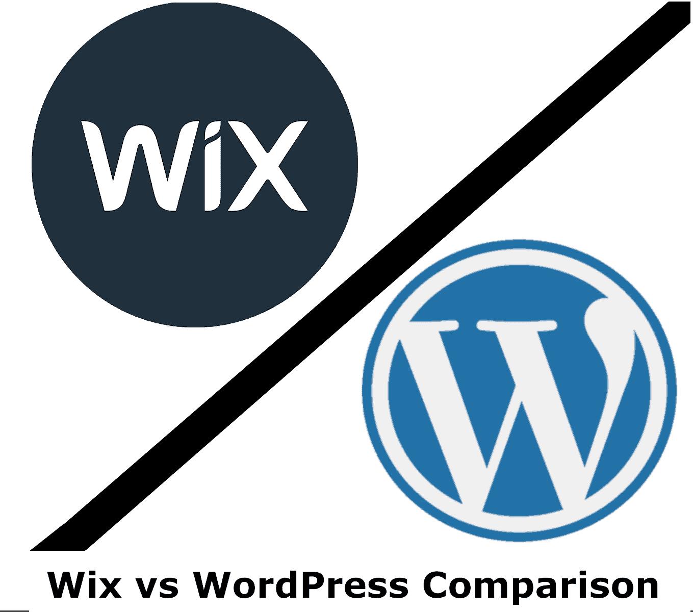 Comparison Wix vs WordPress