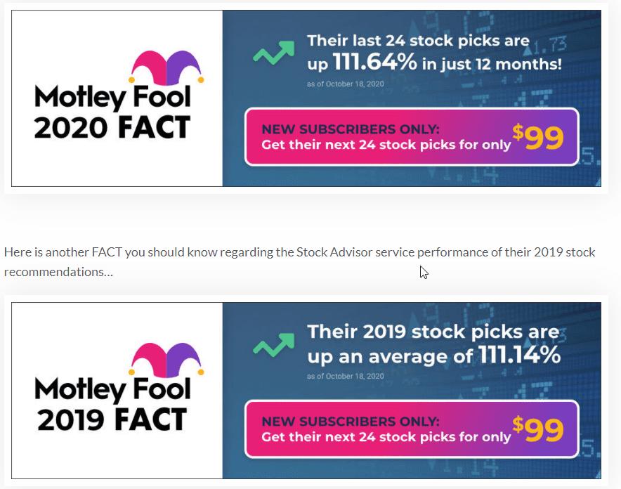 Motley Fool 2020 Fact
