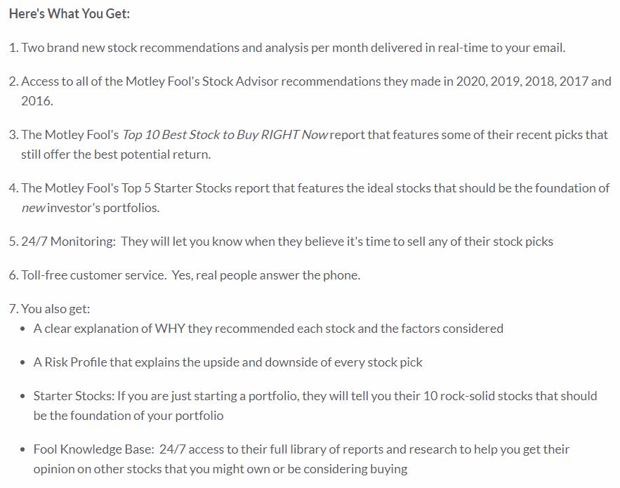 Motley Fool Stock Advisor Summary